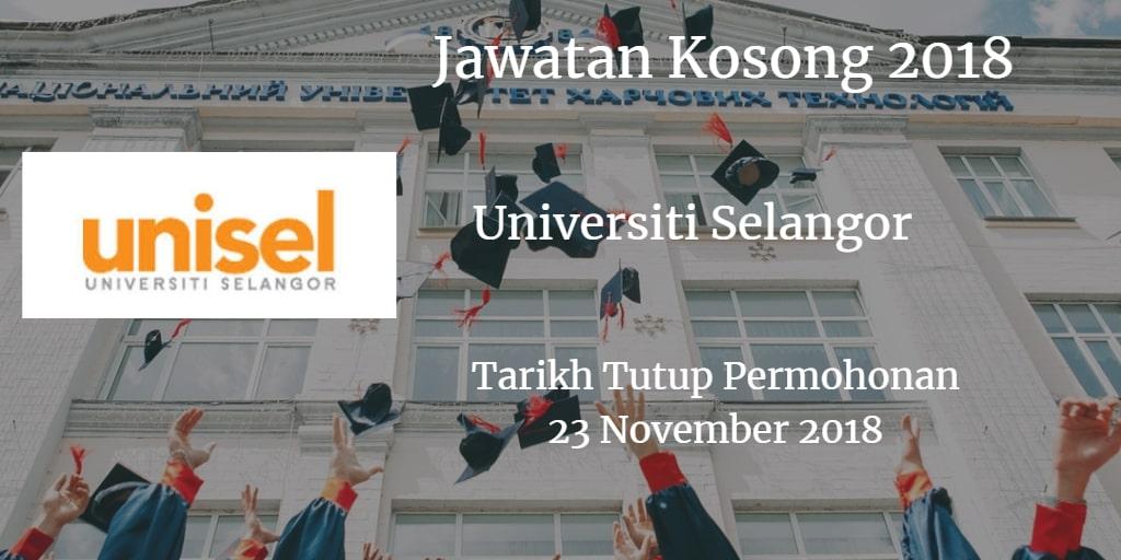 Jawatan Kosong UNISEL 23 November 2018