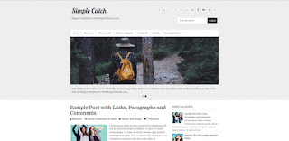 simple catch blogger template
