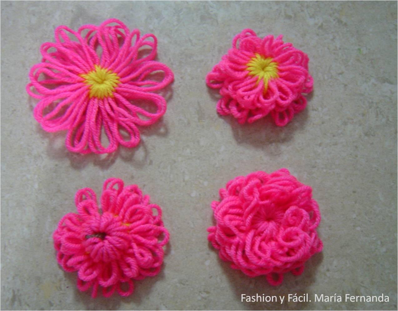 Fashion Y Facil Diy Como Hacer Flores Con Telar Redondo O Telar - Como-hacer-una-flor-de-lana