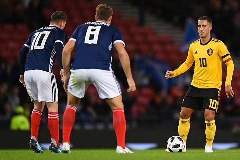 Eden Hazard cầu thủ chơi nổi bật nhất của ĐT Bỉ