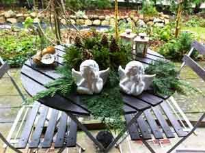 Bord Måtte Med Kunstigt Græs