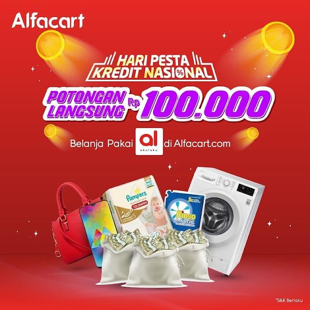 #Alfacart - #Promo Potongan 100K di Hari Pesta Kredit Nasional Pakai Akulaku (s.d 06 Maret 2019)