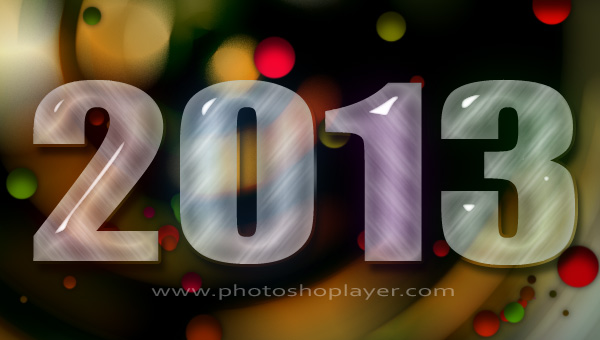 2013 Happy New Year Photoshop Tutorilas