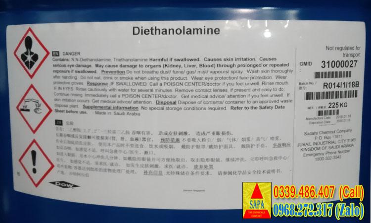 Dung môi Diethanolamine (DEA)