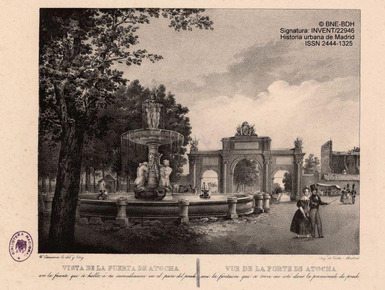 Historia urbana de madrid la olvidada fuente de la for Jardines de la puerta de atocha