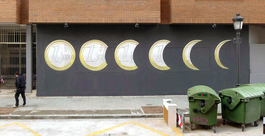 Escif just wrapped up this new mural somewhere on the streets of his hometown, Valencia in Spain.