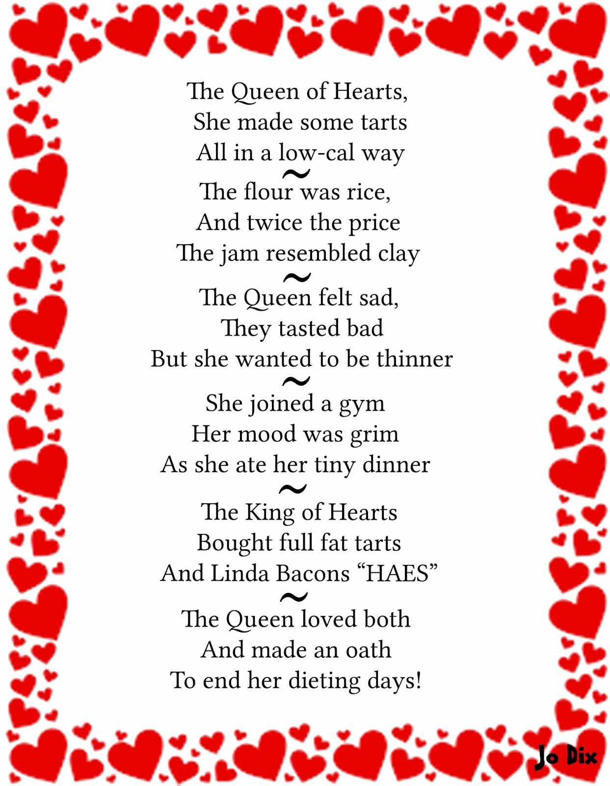 The Queen Of Hearts Nursery Rhyme S