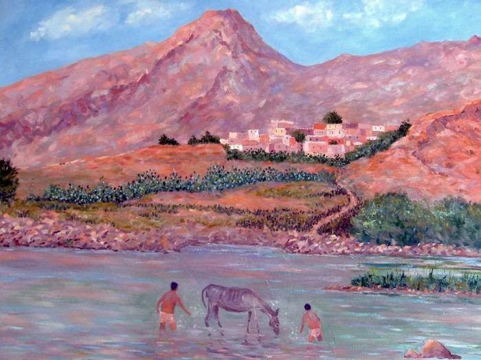 Марокканский художник. Abdellatif Zeraidi