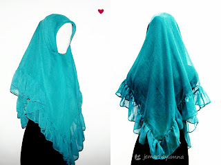 Cara membuat Jilbab Paris Menjadi Jilbab Ruffle