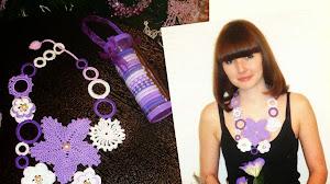Collar al crochet: idea para el día de la madre