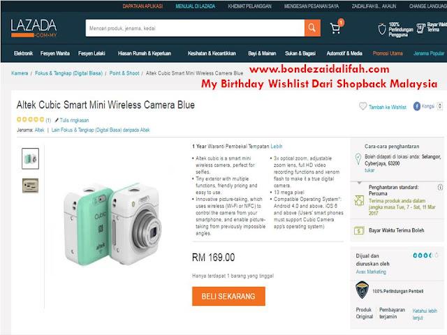 My Birthday Wishlist Dari Shopback Malaysia
