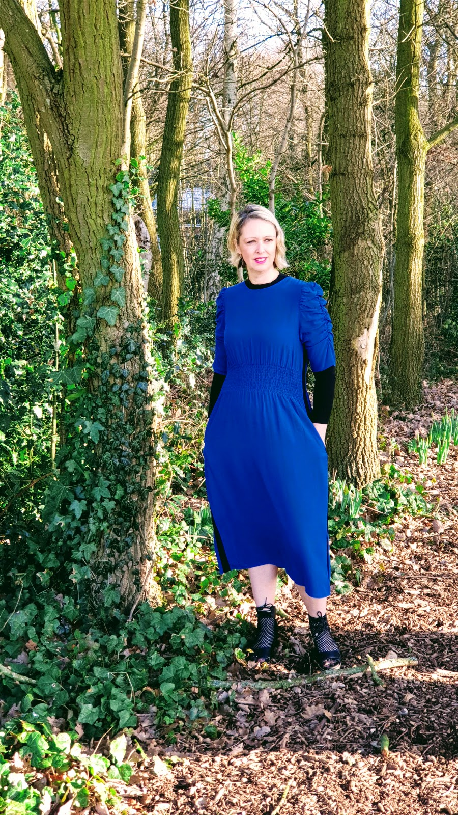 Navy Marks & Spencer Dress And Summer Sandals 2019