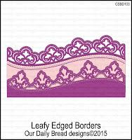 Divinity Designs Custom Leafy Edged Borders Dies