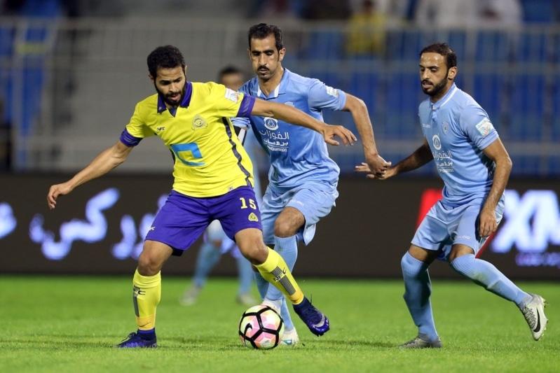نتيجة مباراة النصر والباطن اليوم الأثنين 4-12-2017 في دوري جميل السعودي للمحترفين أنتهت المباراة بالتعادل بين الفريقين 1-1