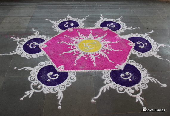 large colorful rangoli design