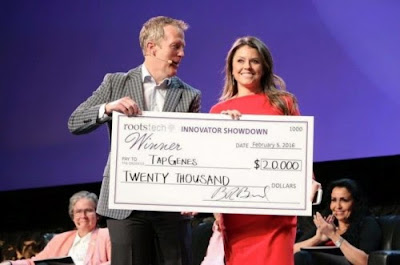 Rootstech Innovator Summit 2016 - 1st place winner, TapGenes by Heather Holmes—Tools to identify medical and genetic threads that tie your family together. TapGenes also competed in the 2015 competition