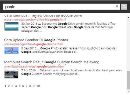 How to Install Popup Search Box Google Custom Search in