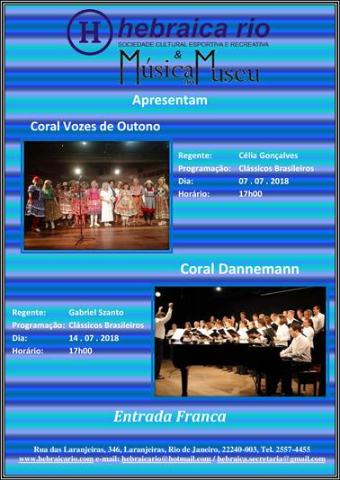 Hebraica Rio recebe Música no Museu nos próximos sábados