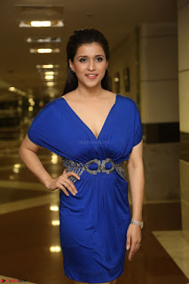 Mannara Chopra in Short Blue Dress at Rogue Movie Teaser Launch 1st March 2017 099.JPG