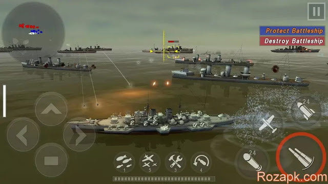 WARSHIP BATTLE:3D World War II v1.2.0 Apk Latest Version For Android