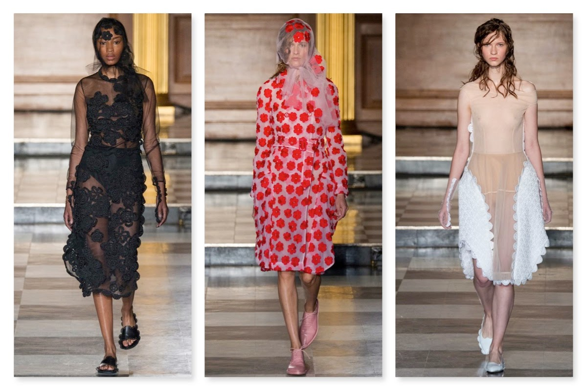781caf5ea98b0f For a Spring/Summer collection, Simone Rocha's designs for SS15 felt  overwhelmingly dark. It was the variety of textures - including fur-lined  shoes which ...