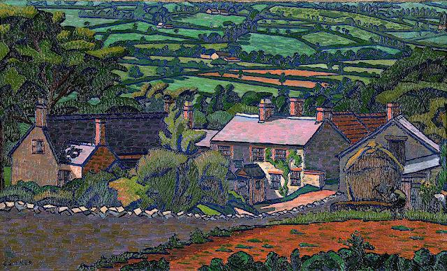 Charles Ginner 1913 landscape art