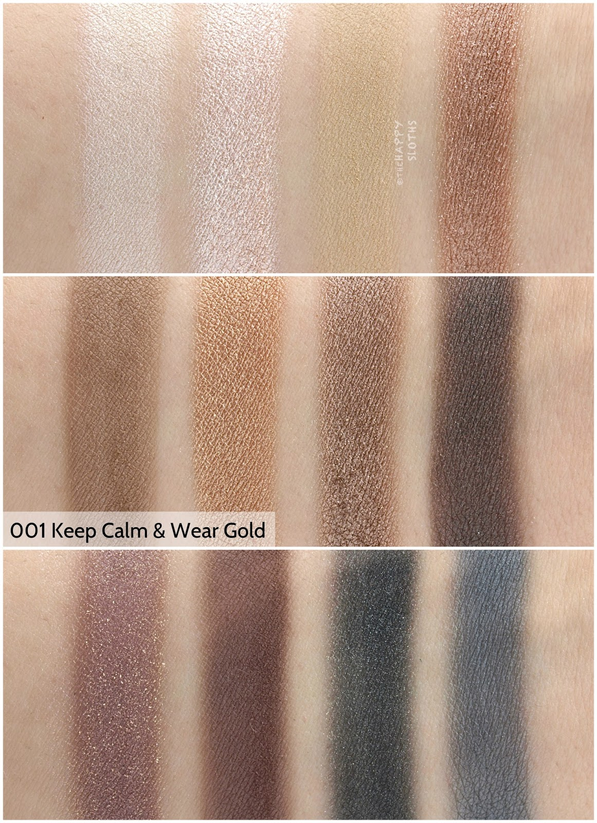 "Rimmel London Magnif'eyes Eyeshadow Contouring Palette in ""001 Keep Calm & Wear Gold"": Review and Swatches"