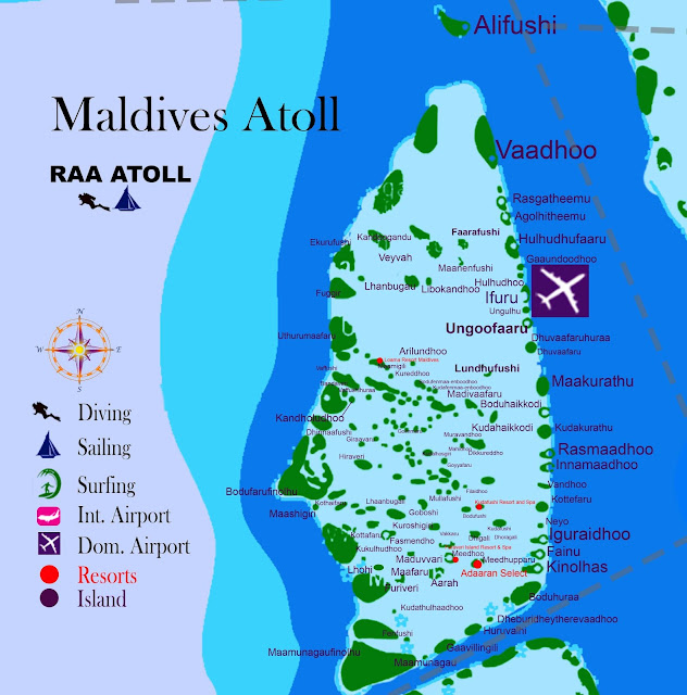 Maldives atoll, Raa atoll maldives map