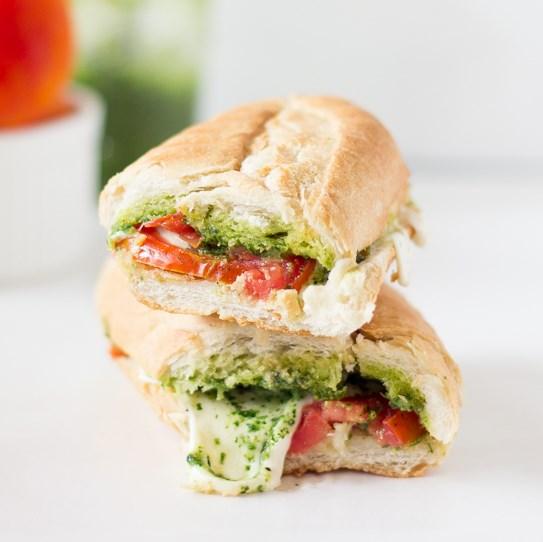 Caprese Sandwich with Parsley Pesto #Vegetarian #Recipes