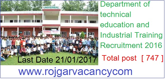 474-instructor-assistant-det-punjab--Department-of-technical-education-and-Industrial-Training-Recruitment-2016