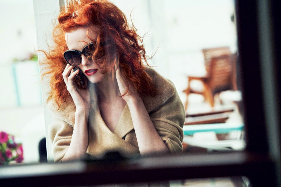 Karen Elson by Peter Lindbergh for Vogue US (October 2011) | Ses Rêveries