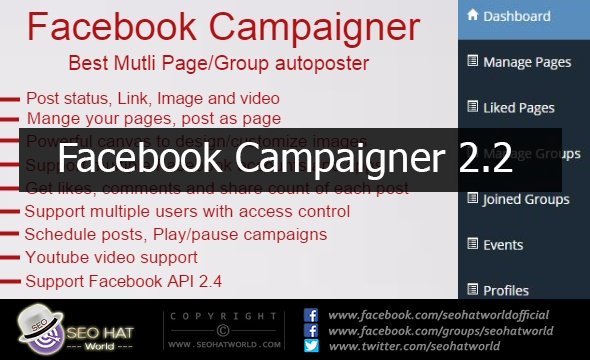 Download Facebook Campaigner 2.2 Free   Facebook Autoposter