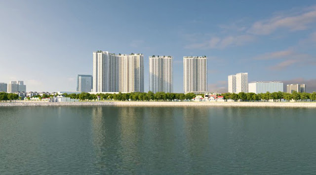 Gelexia Riverside có vị trí ngay cạnh hồ điều hòa Yên Sở