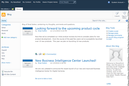 Galaxy Consulting Blog: Using SharePoint to Create a Blog