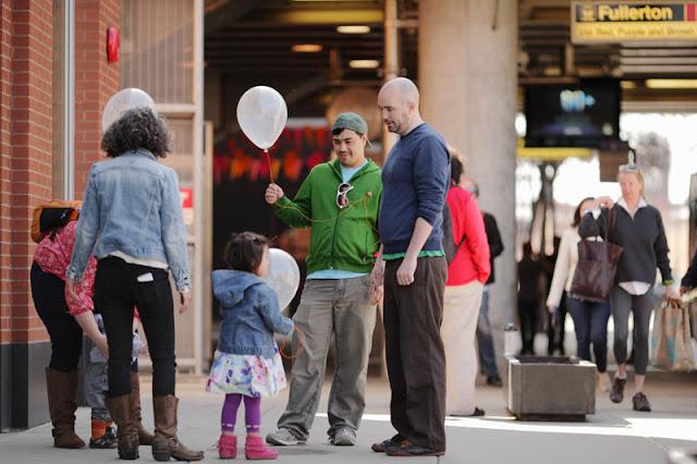 Milkweek Dispersal Balloons @ DePaul Art Museum