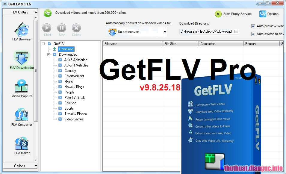 Download GetFLV Pro 9.8896.188 Full Cr@ck