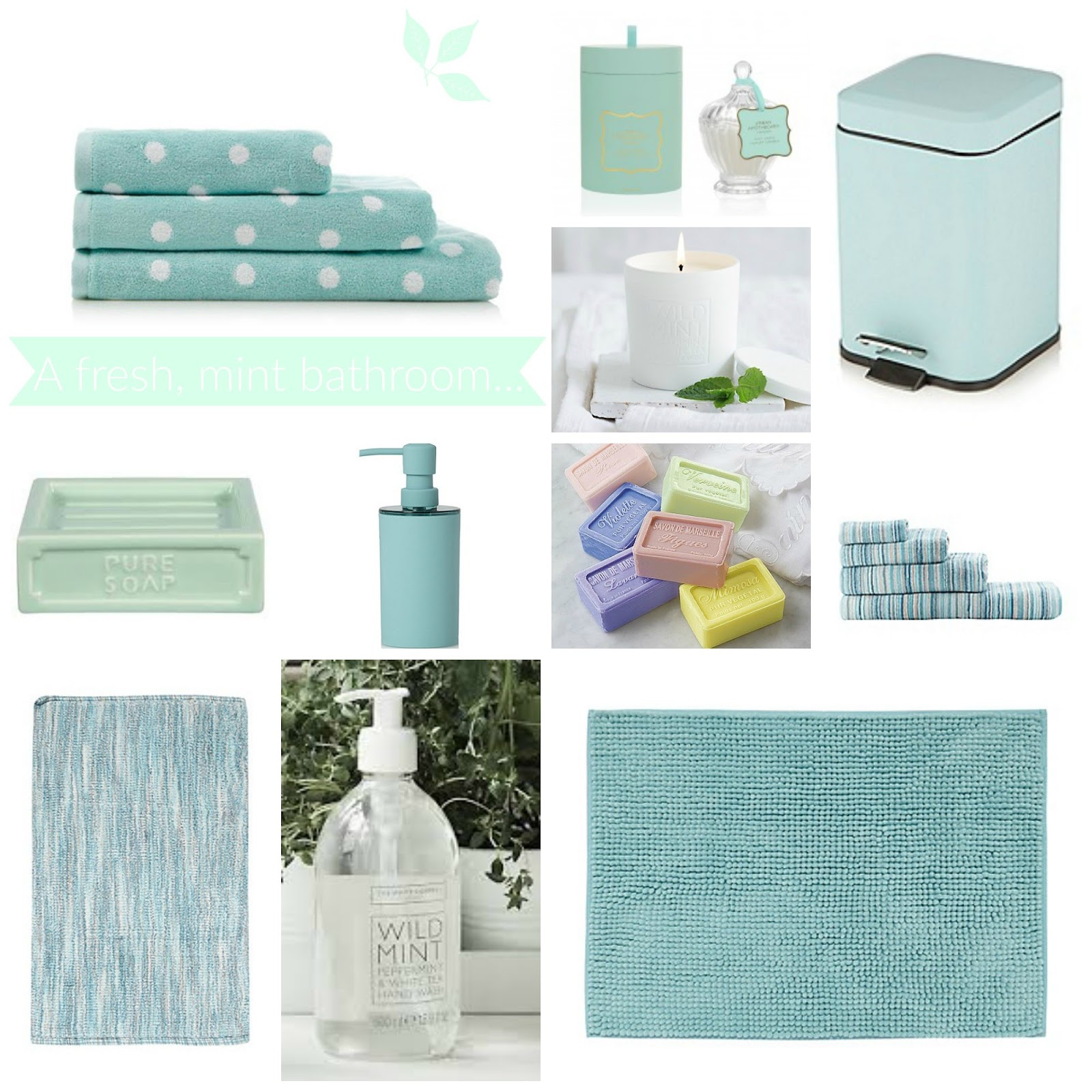 Attrayant Home Fresh Mint Bathroom Accessories Evans Crittens Family