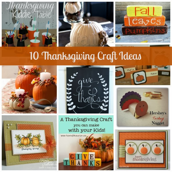 10 Thanksgiving Crafts from Krafty Cards Etc.