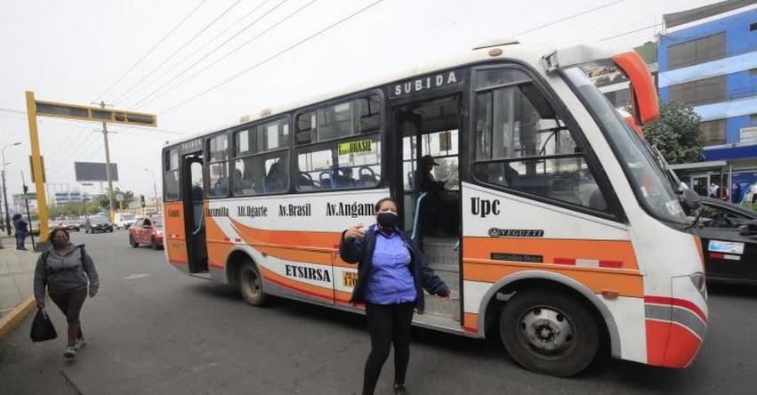 Este miércoles sale subsidio para transporte público, anunció el presidente Martín Vizcarra