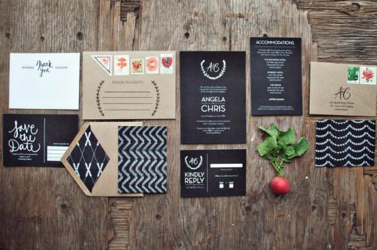 Wedding chalkboards invitations
