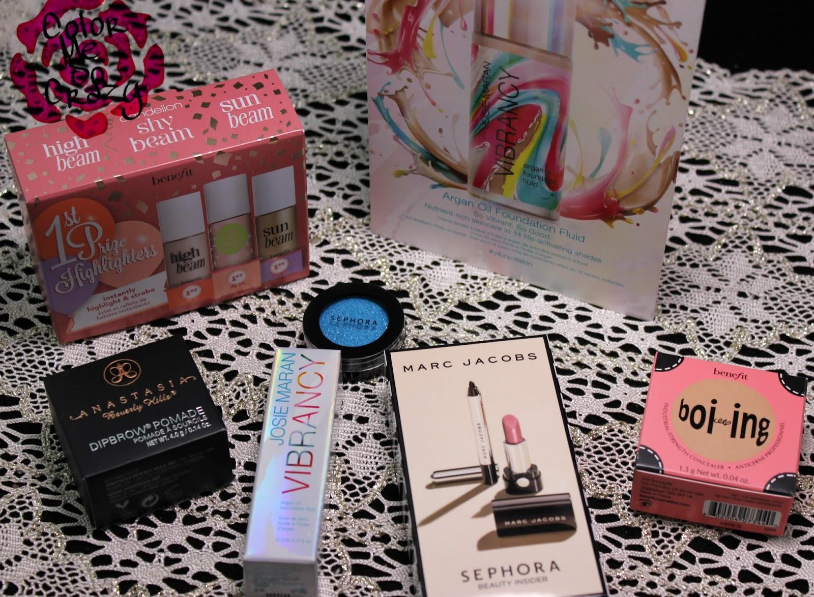 Benefit Anastasia Beverly Hills Marc Jacobs Josie Maran Sephora Birthday Presents