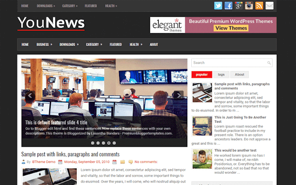 YouNews Free Blogger Template