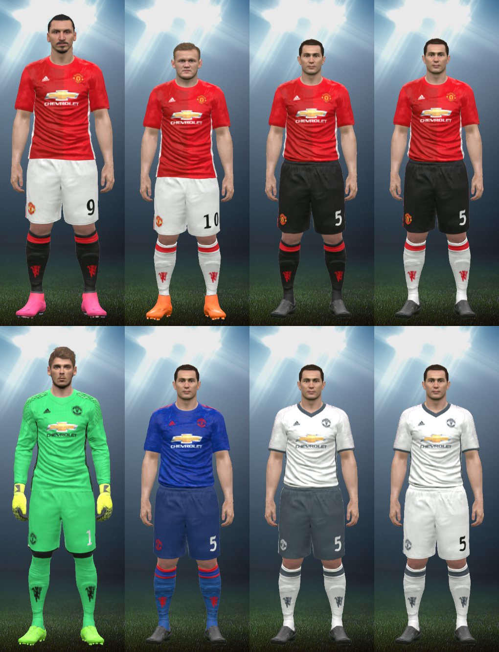 845111900 Wepes Sport  Uniforme Manchester United 2016 17 - Pes 2016 (PC PS3)