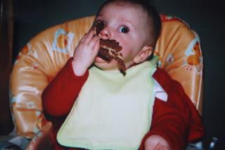 Daughter, Pudding, Baby, Birthday cake