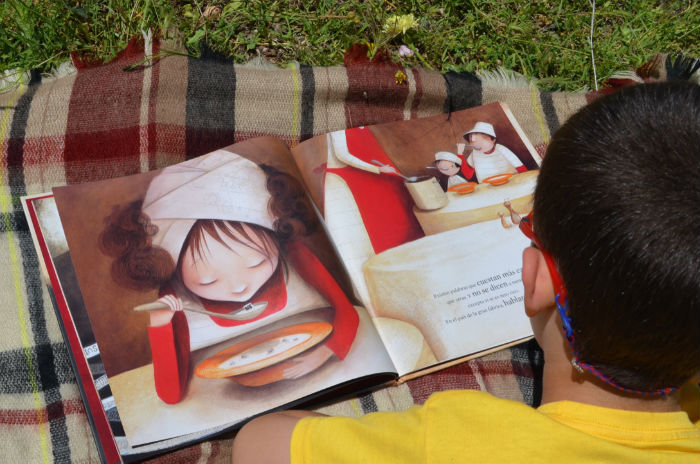La gran fábrica de las palabras, cuento infantil con valores, interior libro