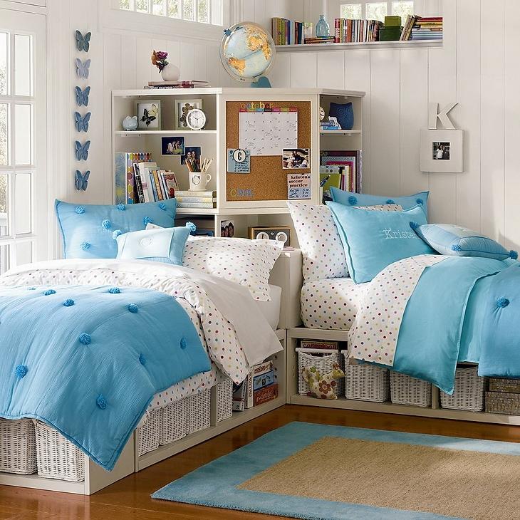 Dormitorios para hermanas adolescentes dormitorios con - Habitaciones de dos camas juveniles ...