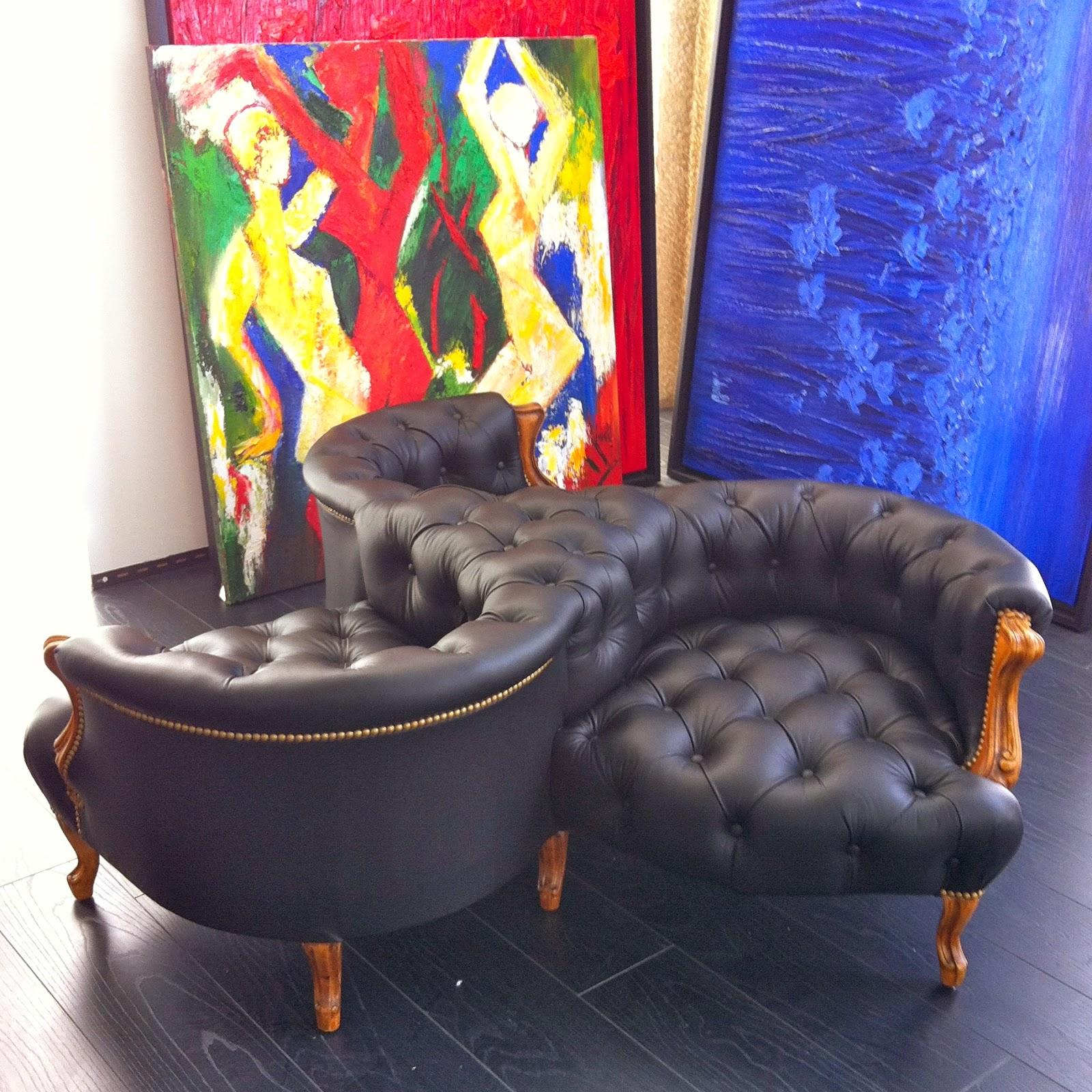 atelier anne lavit artisan tapissier d corateur 69007 lyon indiscret en cuir. Black Bedroom Furniture Sets. Home Design Ideas