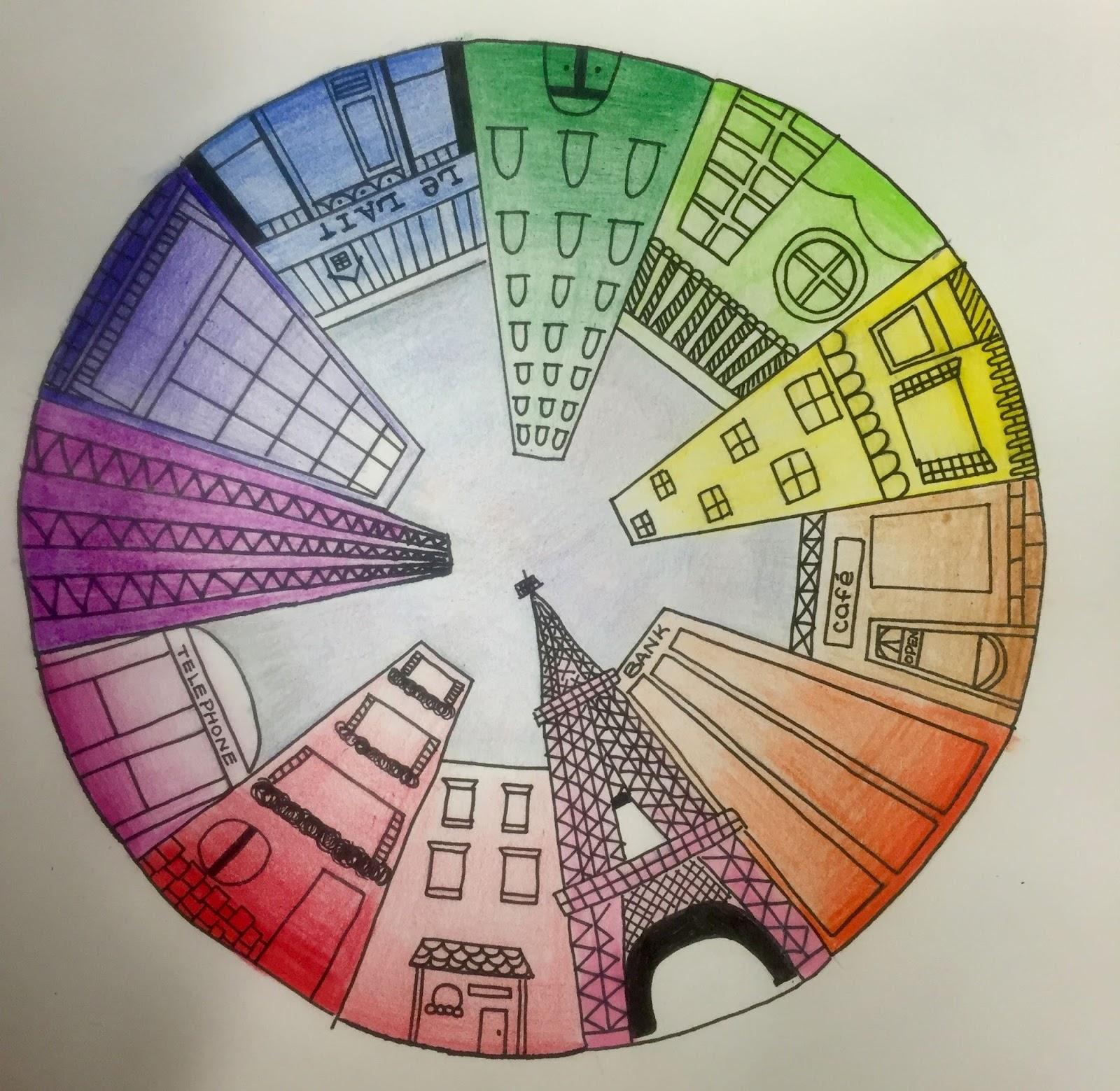 Kids Art Market Color Wheel Perspective