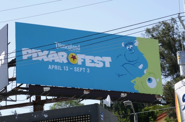 Monsters Inc Pixar Fest Disneyland billboard
