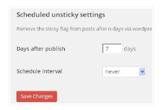 scheduled unsticky wordpress